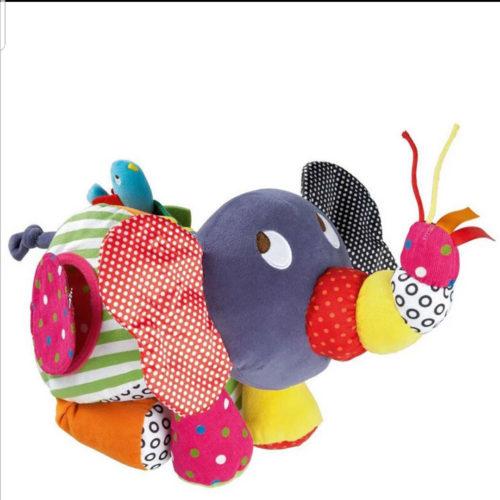 בובת פיל צבעונית לתינוק