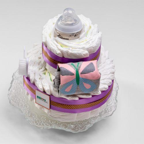 עוגת טיטולים 2 קומות – בנות