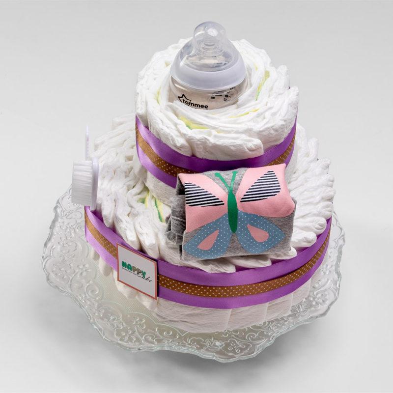 מארז עוגת טיטולים 2 קומות – בנות